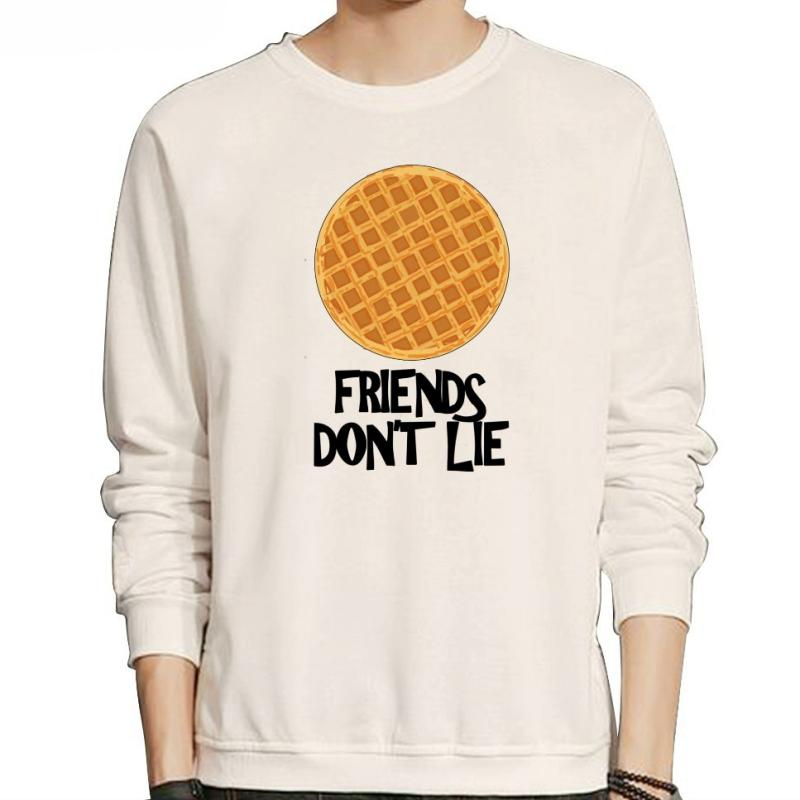 "Men's Autumn/Winter Fleece Sweatshirt ""Friends Don't Lie"""