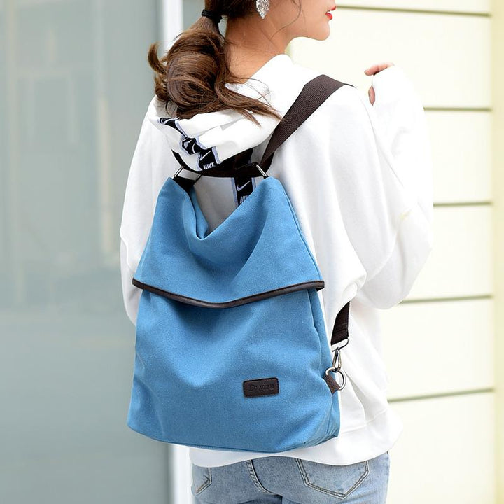 Women's Waterproof Canvas Travel Backpack