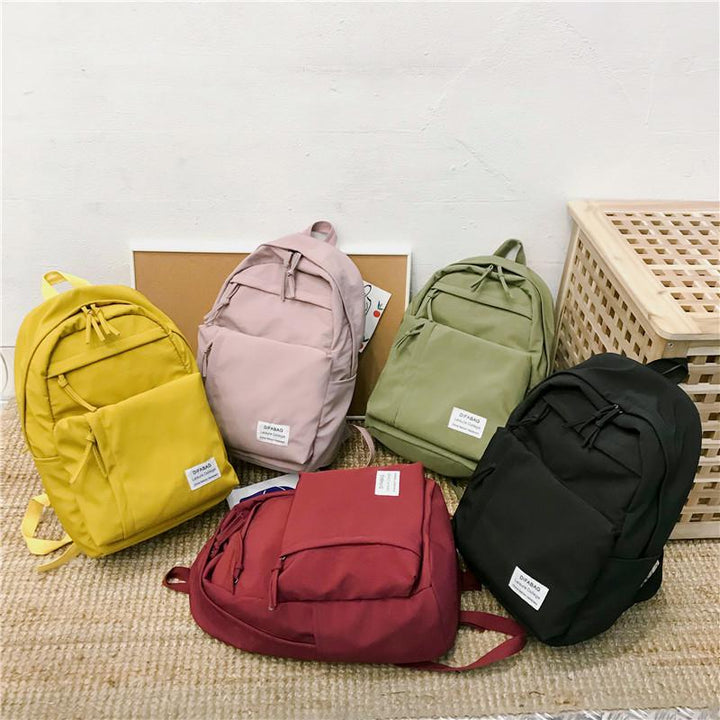 Women's Nylon Waterproof Travel Backpack With Zip Pockets