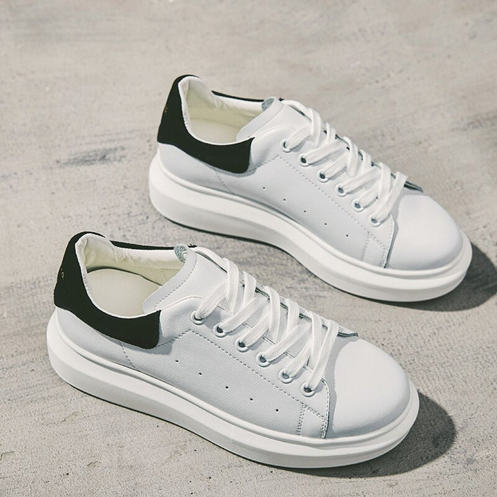 Women's Spring Casual Leather Breathable Sneakers