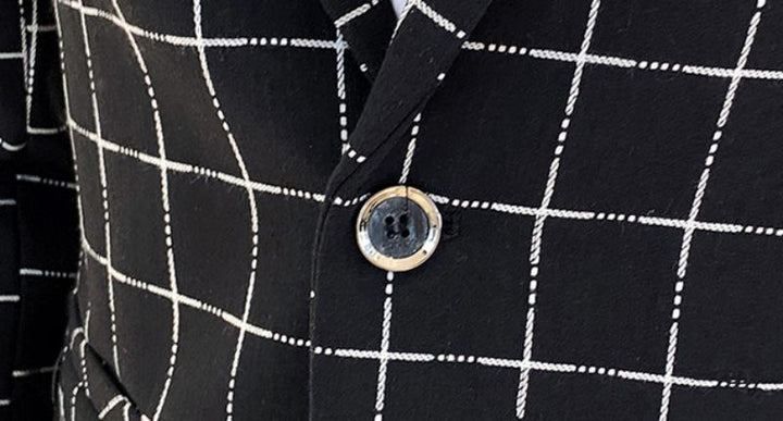 Men's Casual Plaid Blazer | Plus Size
