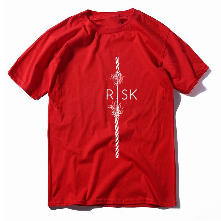 "Men's Summer Casual Cotton Breathable T-Shirt ""Risk"""
