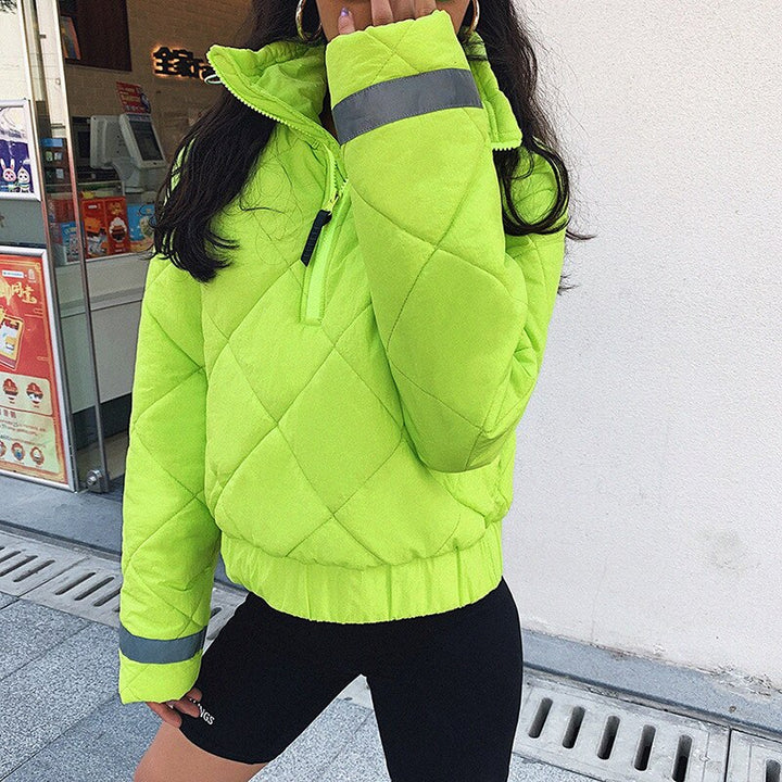 Women's Autumn Casual Warm Zipper High Neck Coat
