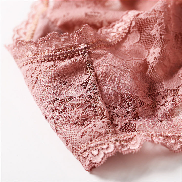 Women's Cotton Lace Low-Rise Panties