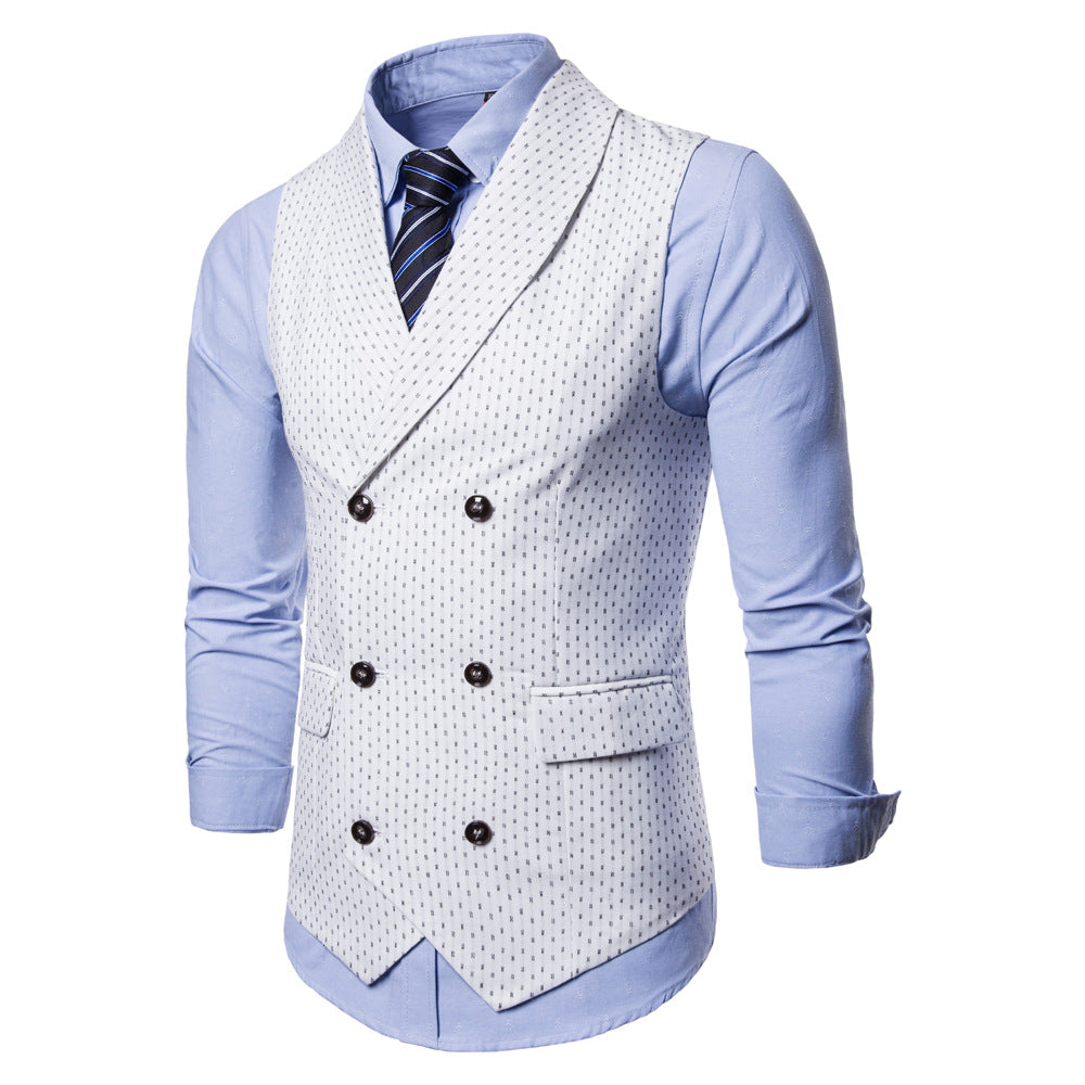 Men's Casual Double Breasted Vest