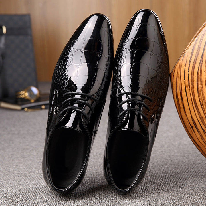 Men's Leather Pointed Oxfords