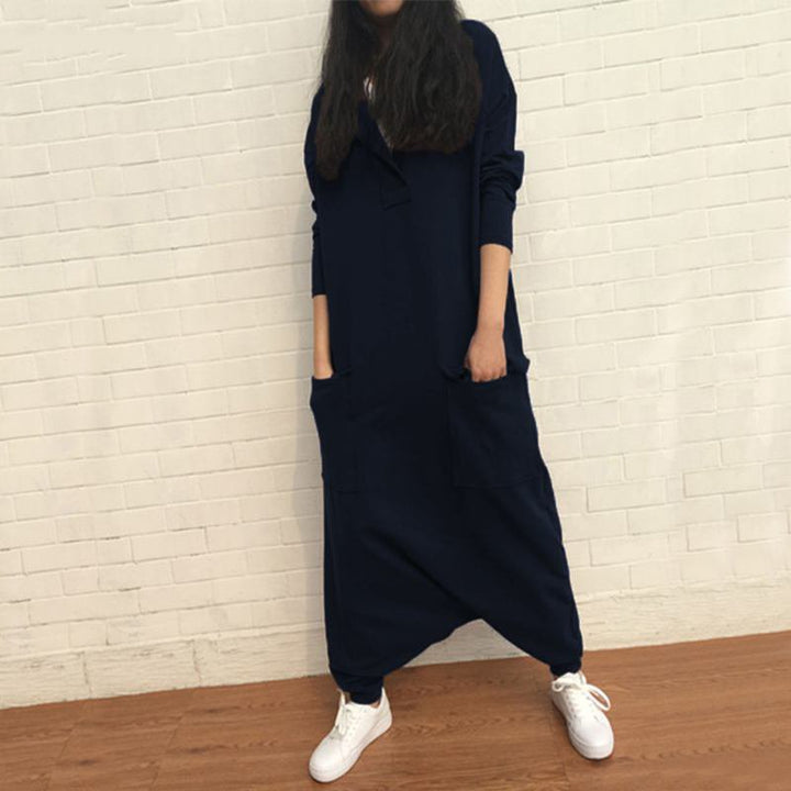 Women's Spring/Autumn Casual Spandex Loose Jumpsuit