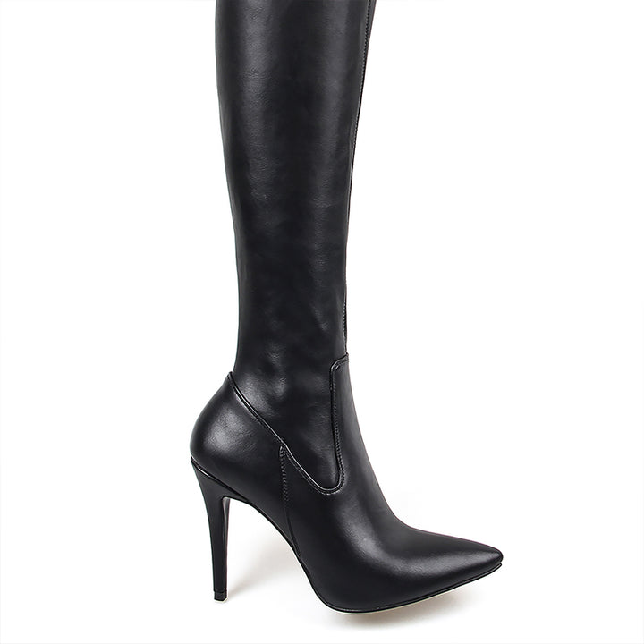Women's High Boots With Pointed Toe