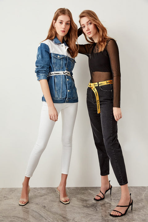 Women's Casual High-Waist Jeans