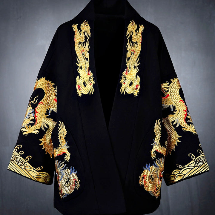 Men's Autumn Loose Blazer With Embroidery