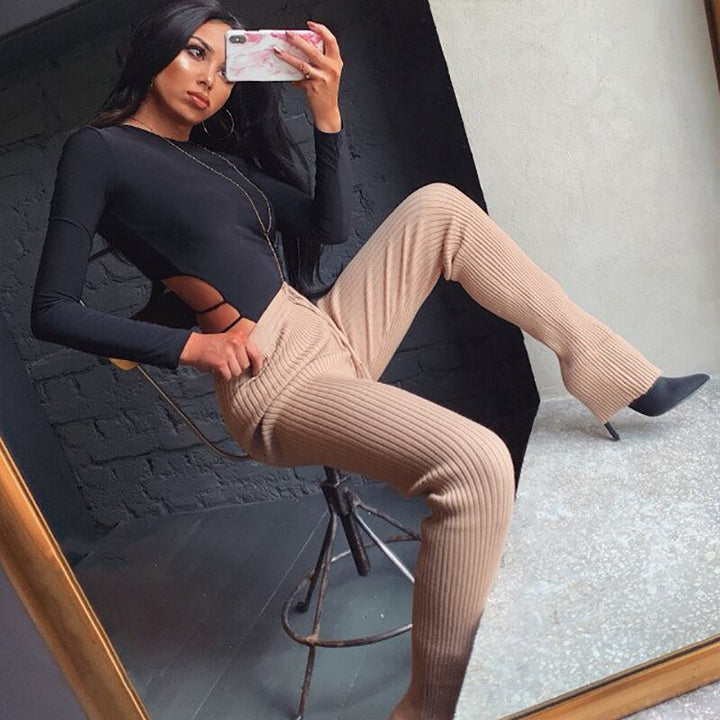 Women's Autumn Casual O-Neck Skinny Bodysuit