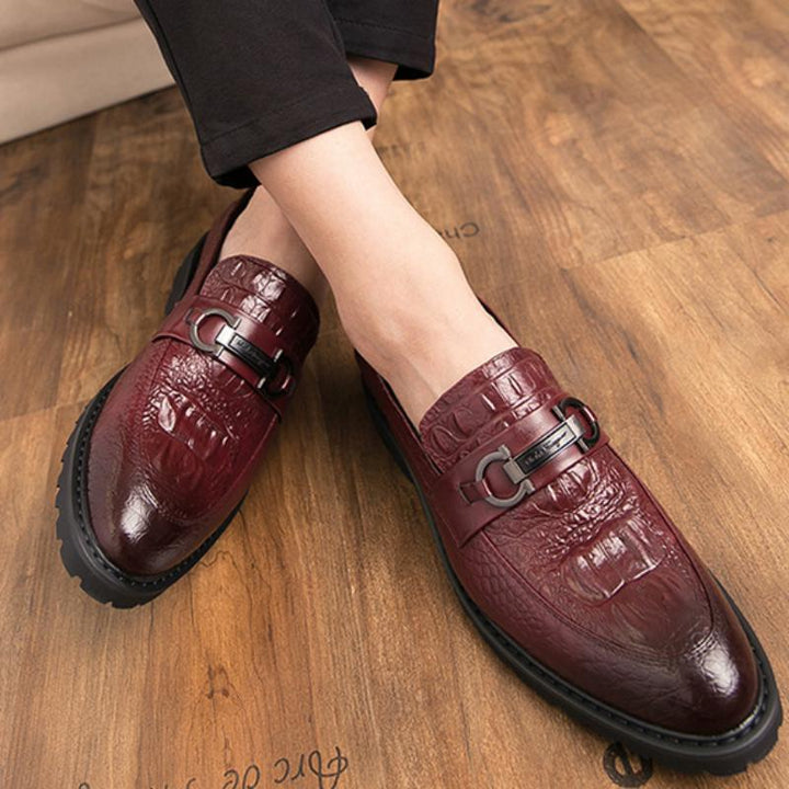 Men's Leather Shoes With Thick Sole | Plus Size