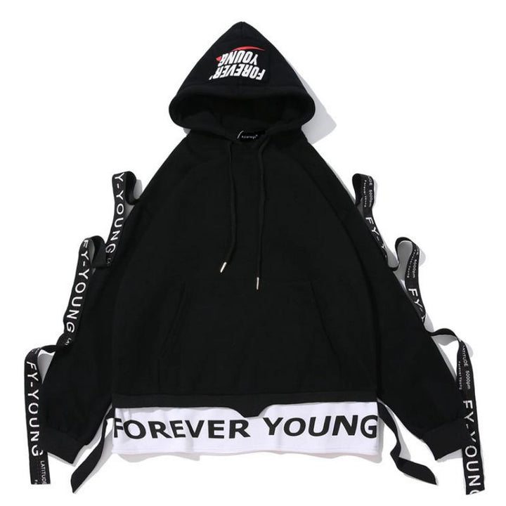 "Men's Hooded Sweatshirt ""Forever Young"""