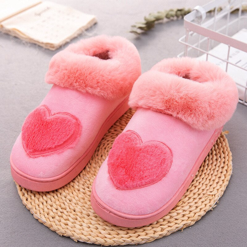 Women's Winter Warm Soft Fur Home Slippers