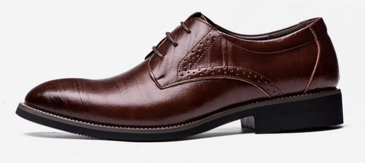 Men's Genuine Leather Lace-Up Oxfords