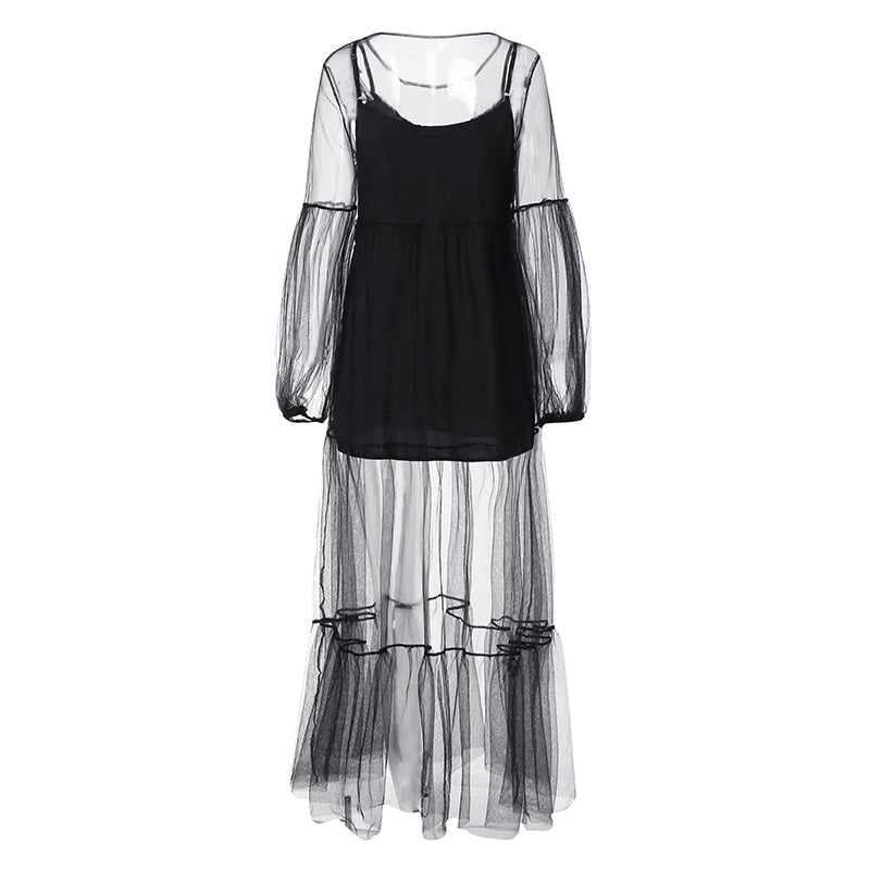 Women's Summer Lace Polyester Long Dress