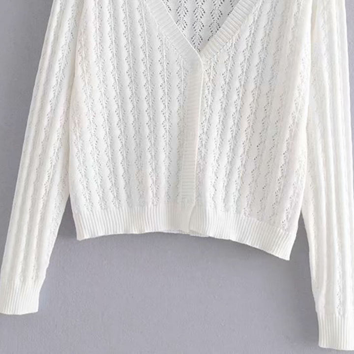 Women's Summer Casual Thin Striped Buttoned Cardigan