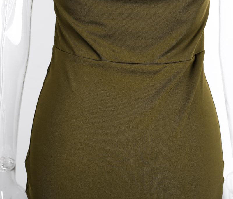 Backless Evening Dress With Deep V-Neck - Zorket