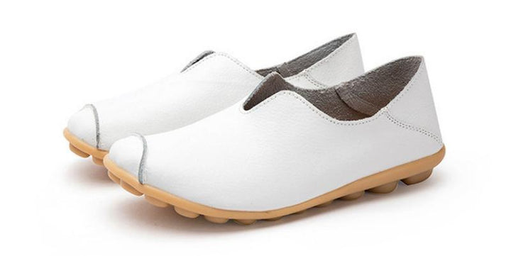 Women's Spring Genuine Leather Flats | Plus Size