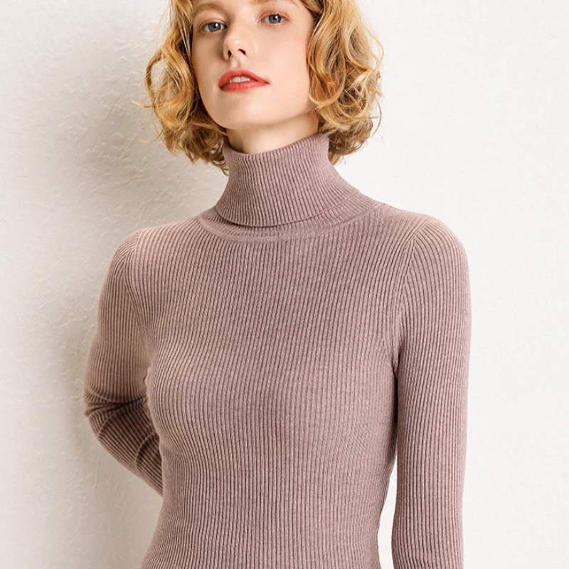 Women's Autumn Knitted Cashmere Long-Sleeved Sweater
