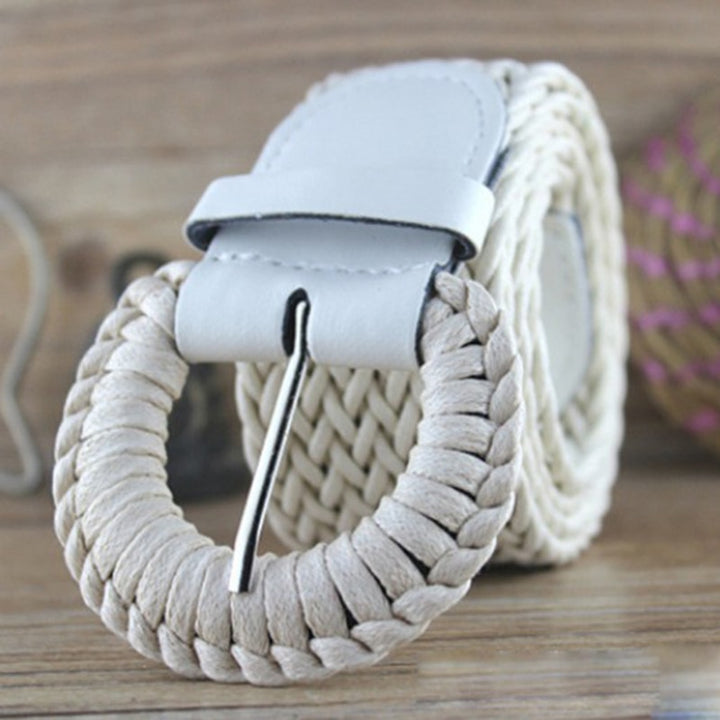 Women's Casual Solid Braided Belt