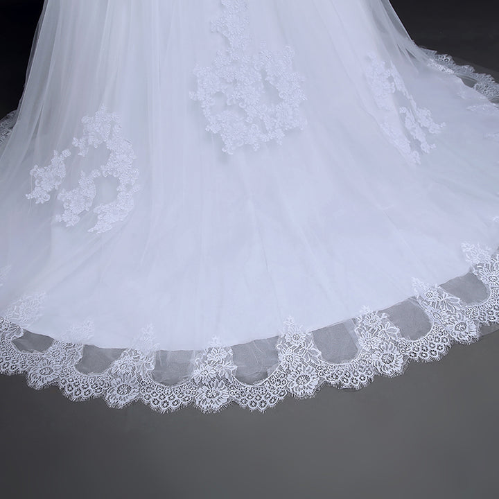 Women's Lace Long-Sleeved Wedding Dress With Jacket