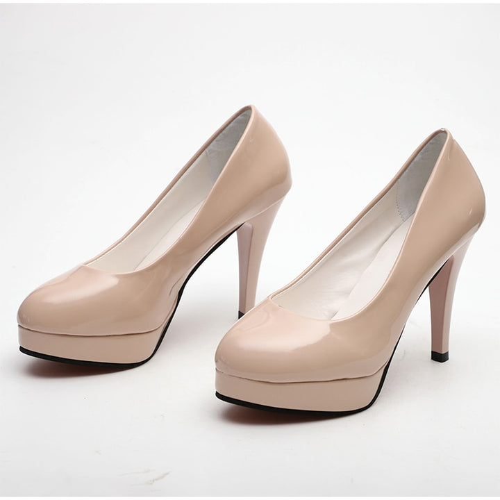 Women's Spring Leather High Heels Pumps | Plus Size
