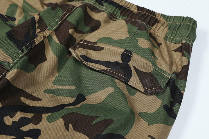 Men's Autumn/Winter Cargo Pants With Camouflage Print