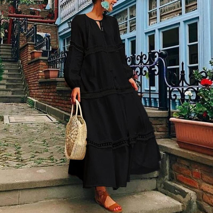 Women's Spring/Summer Casual V-Neck Loose Maxi Dress