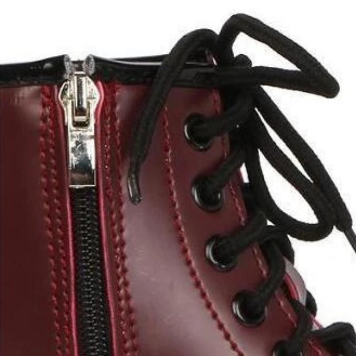 Women's Autumn/Winter Leather Lace Up Ankle Boots