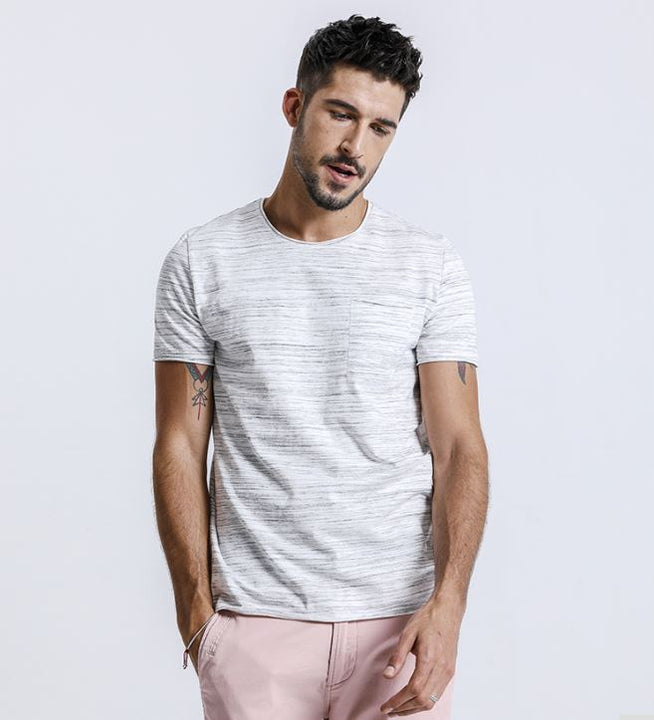 Men's Summer Slim Striped T-Shirt