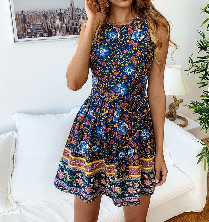Women's Summer Cotton Sleeveless A-Line Dress