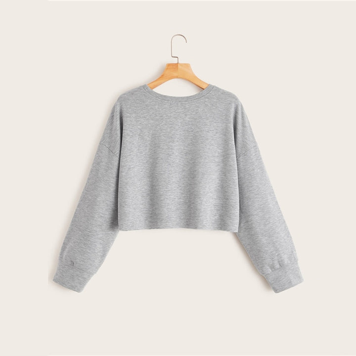 Women's Spring/Autumn Casual Long-Sleeved O-Neck Sweatshirt