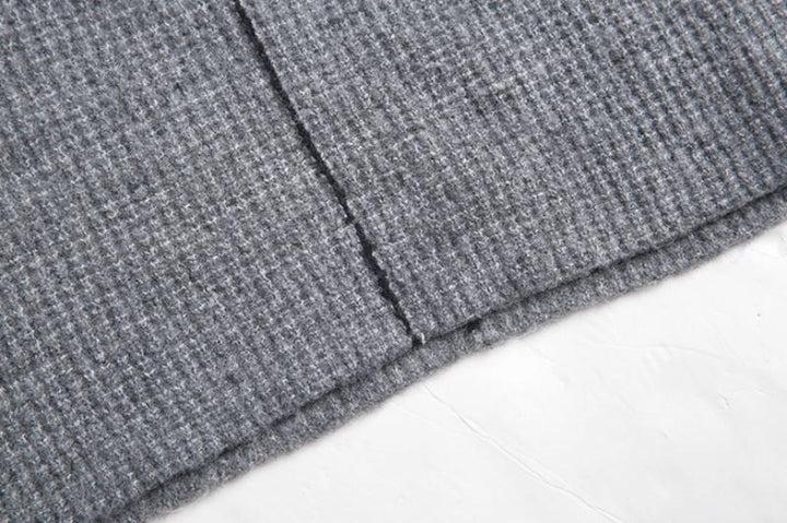 Men's Autumn Knitted Hooded Sweater