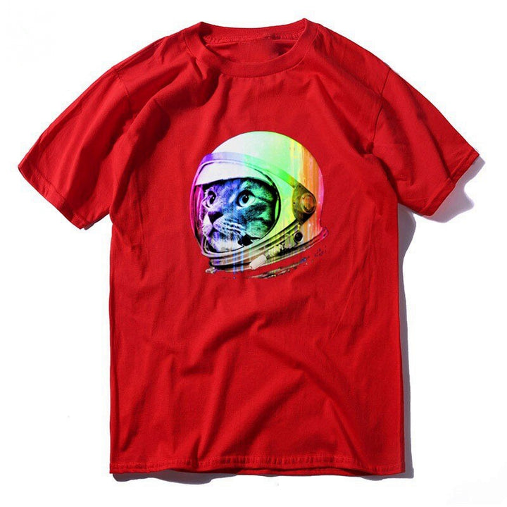 Men's Summer Cotton O-Neck T-Shirt With Print