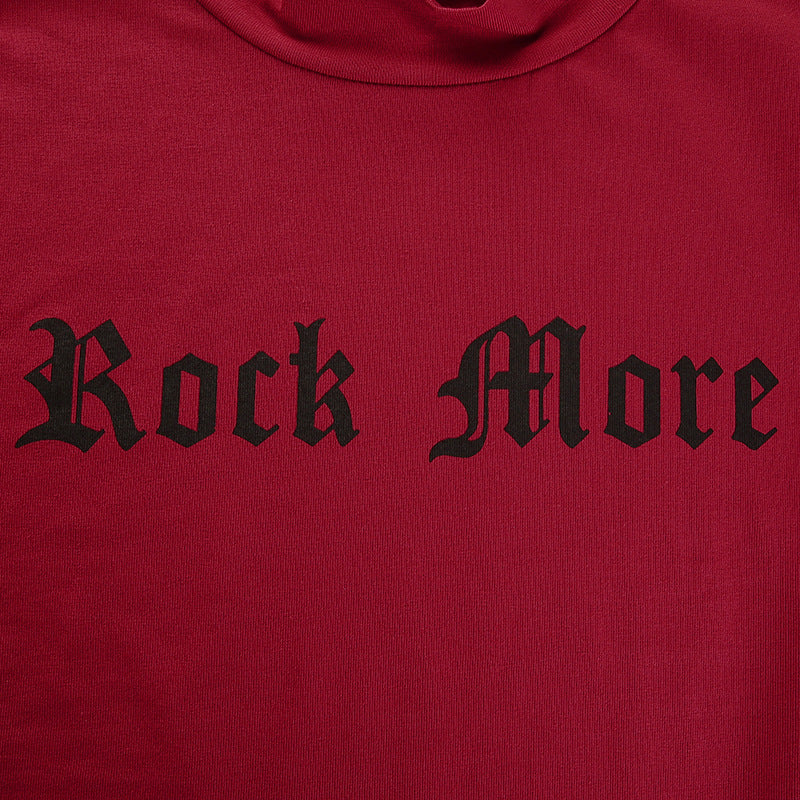 "Women's Skinny Cotton Elastic T-Shirt ""Rock More"""