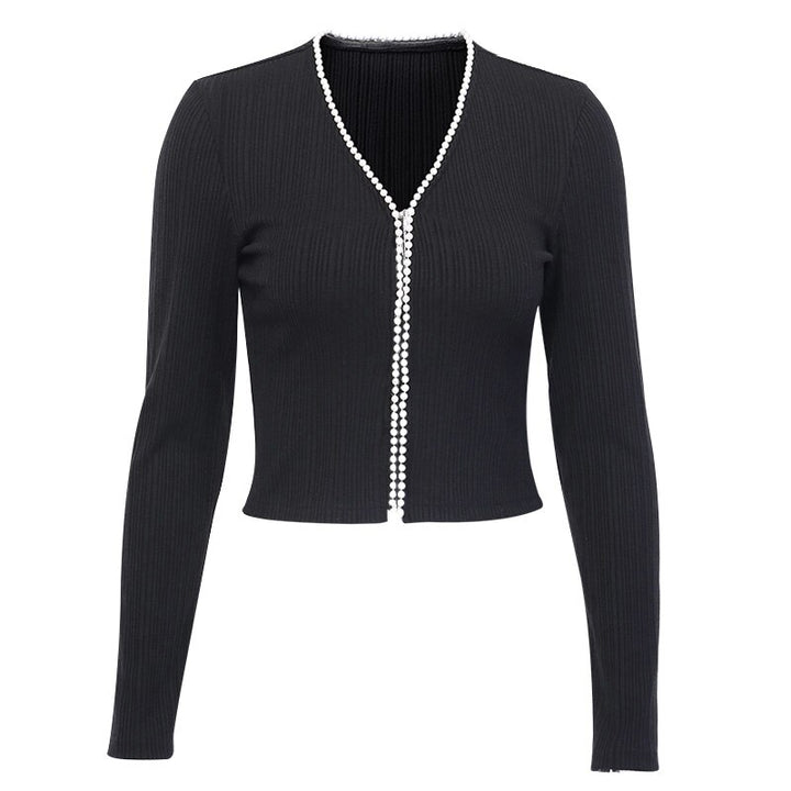 Women's Autumn V-Neck Knitted Soft Cardigan