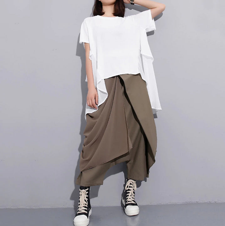 Women's Spring Elastic High-Waist Long Pants