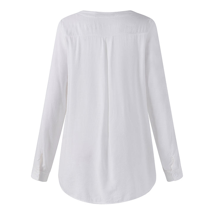 Women's Summer Casual V-Neck Loose Blouse With Lace