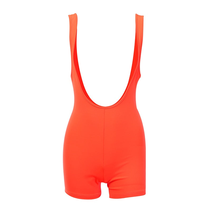 Women's Summer Casual Stretchy Bodycon Jumpsuit