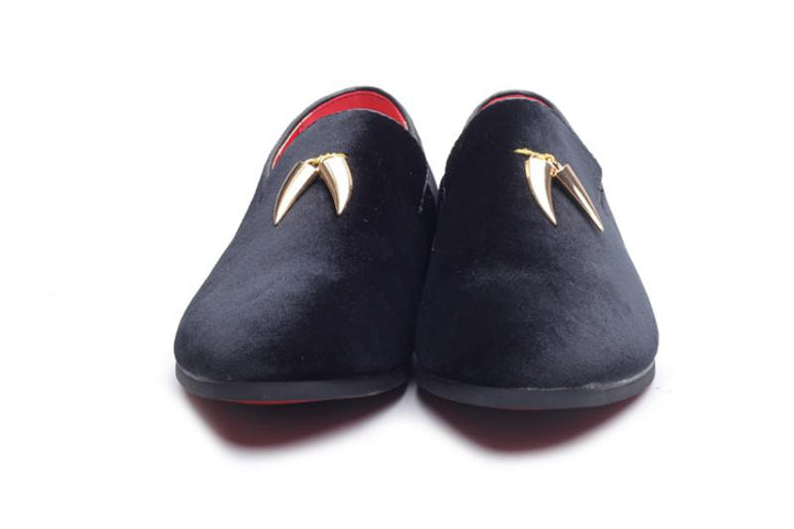 Men's Spring/Autumn Slip-Ons With Metal Pendant