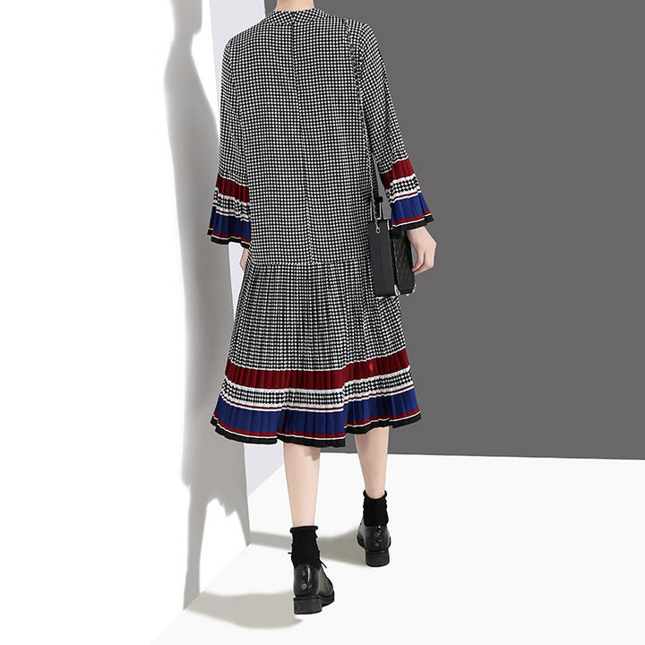 Women's Spring/Summer Cotton Long-Sleeved Loose Dress