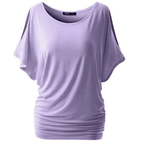 Women's Summer Loose Long T-Shirt  With O-Neck