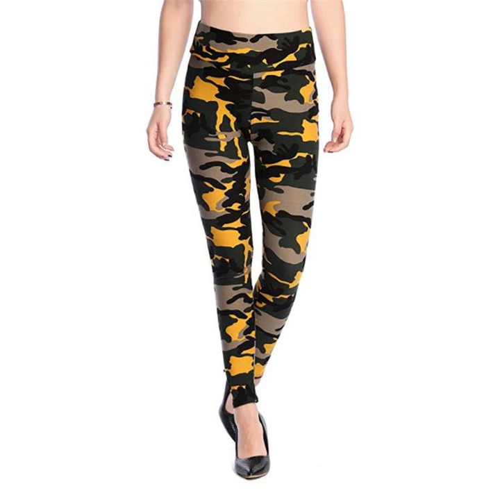 Women's Summer Casual Polyester High-Waist Leggings With Print