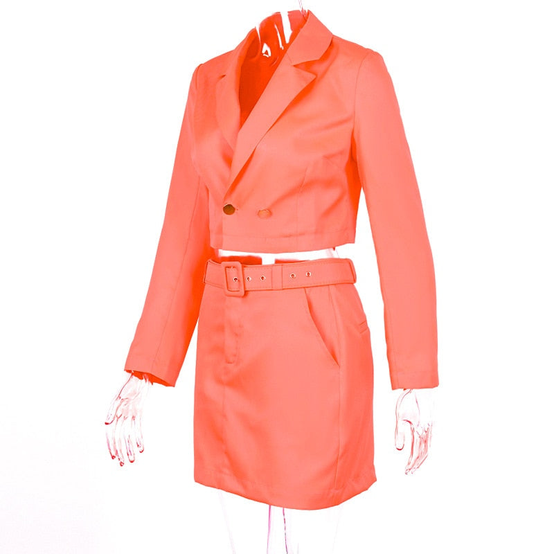 Women's Autumn Solid Long Sleeve Suit