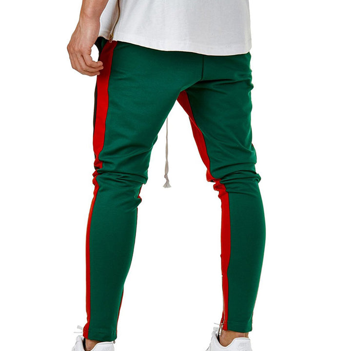 Men's Cotton Slim Sweatpants With Elastic Waist