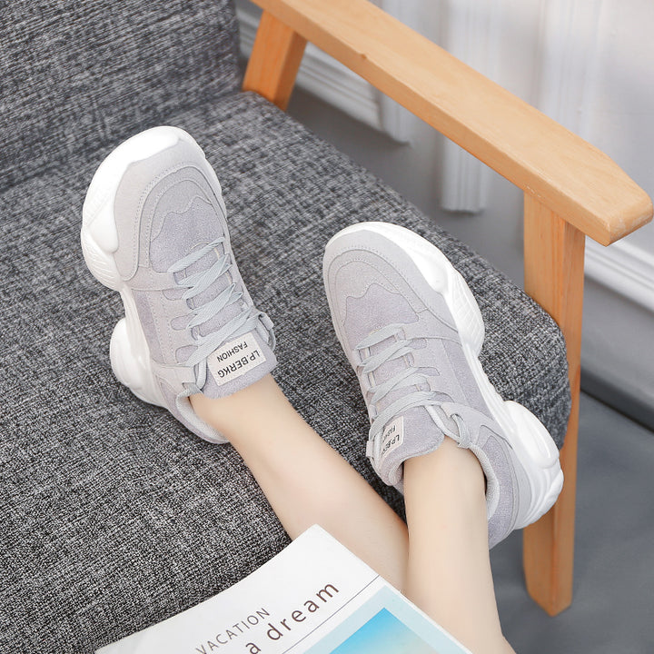 Women's Spring Sneakers With Thick Sole