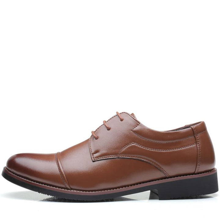 Men's Patent Leather Oxfords With Pointed Toe