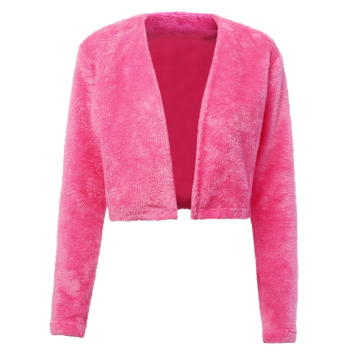 Women's Autumn Casual Slim Plush Short Cardigan
