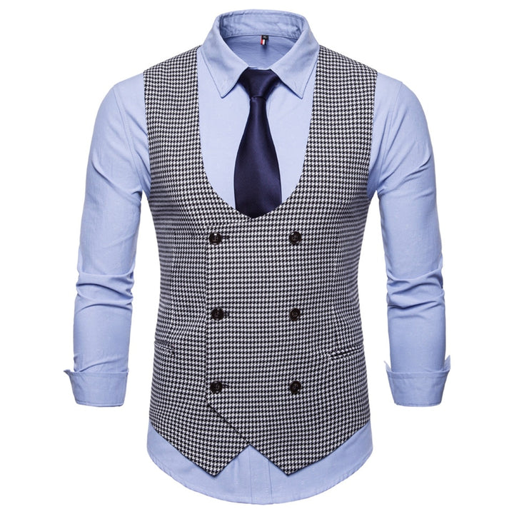 Men's Spring/Autumn Casual Vest With U-Shaped Collar